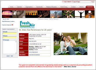 Example Business Profile Page